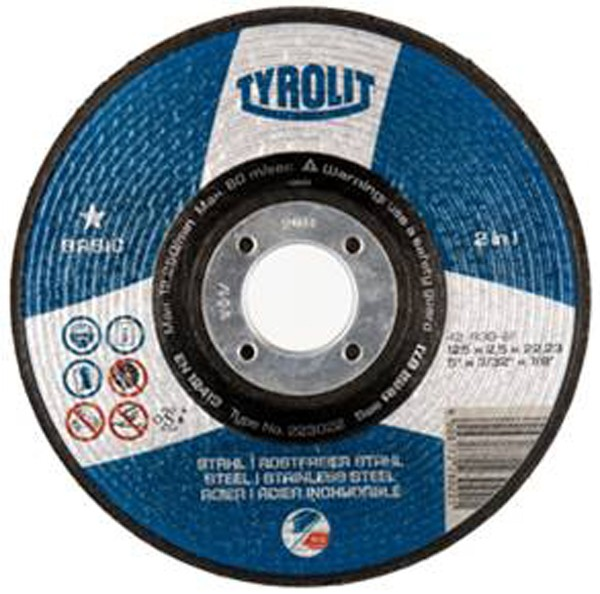 DISCO C H METAL/INOX TYROLIT BASIC 115X2,5MM