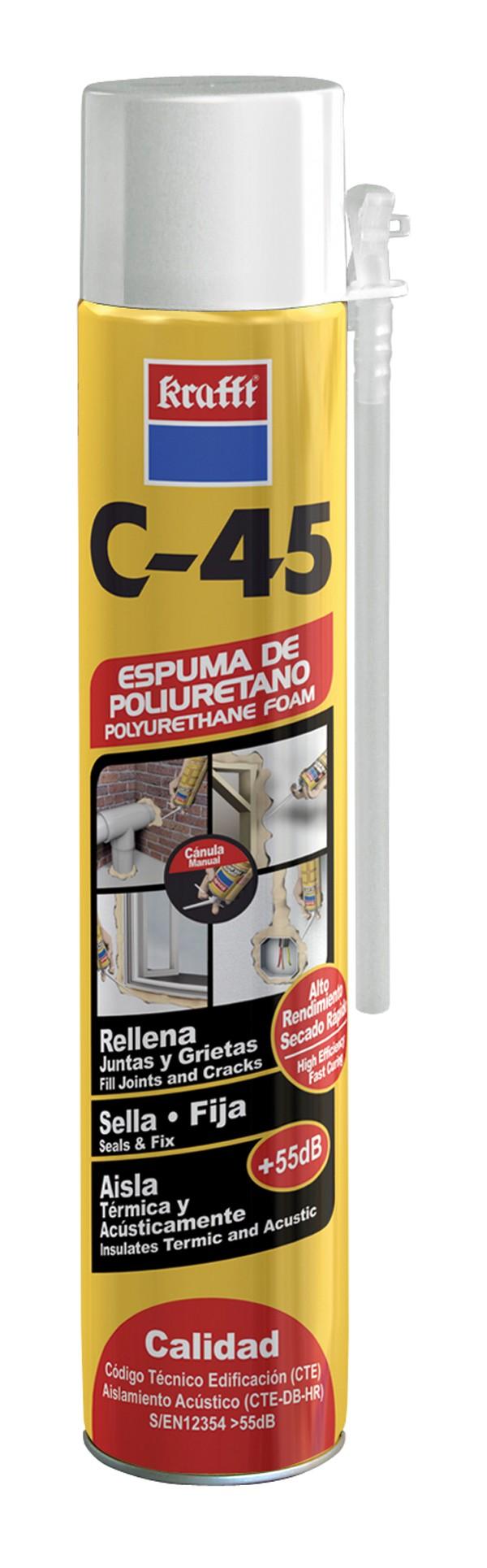ESPUMA POLIURETANO CANULA KRAFFT 750 ML