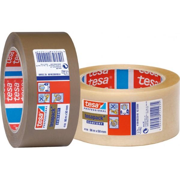 CINTA EMBALAJE PACK PVC TRANSP TESA 66 MX50 MM