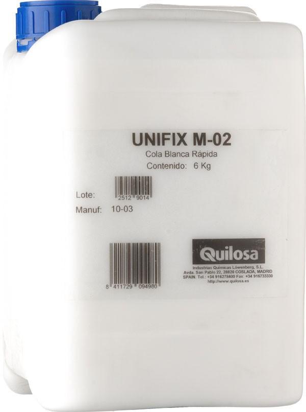 COLA BLANCA GARRAFA M 02 UNIFIX 5 KG