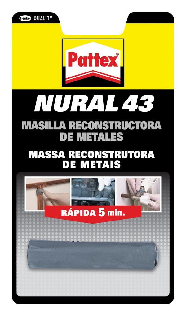 MASILLA REPARAD METAL NURAL 43 PATTEX 48 G