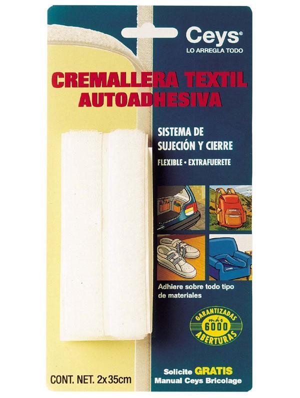 CREMALLERA TEXTIL VELCRO NEGRA CEYS 35 CM