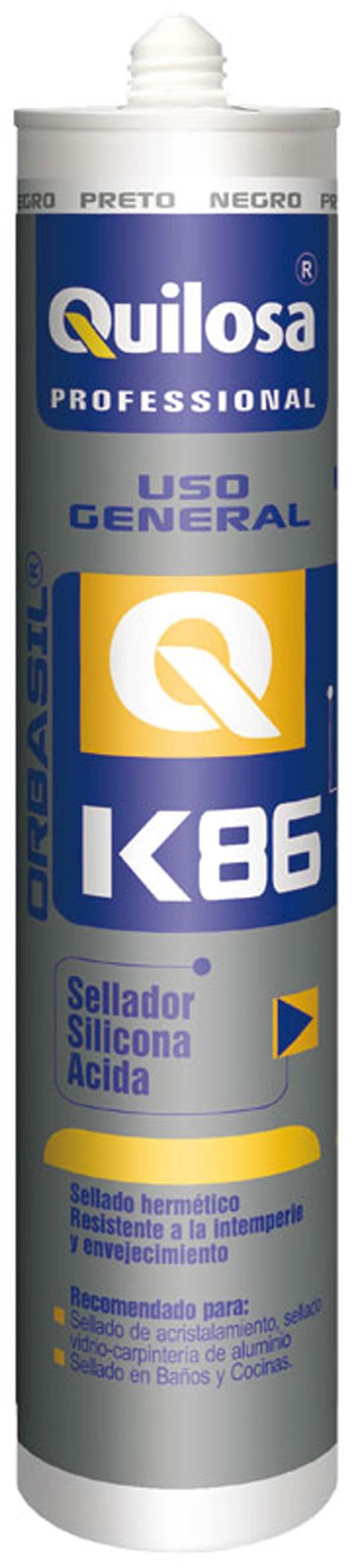 SILICONA CARTUCHO BLANCA K 86 ORBASIL 300 ML