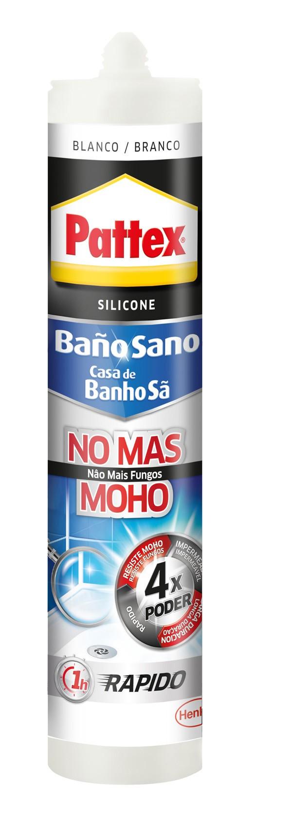 SILICONA BAÑO NO MAS MOHO BCO PATTEX 280 ML
