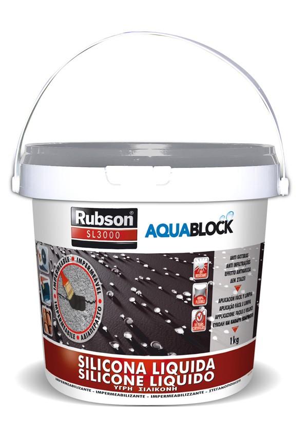 SILICONA LIQUIDA SL3000 GRIS RUBSON 1 KG