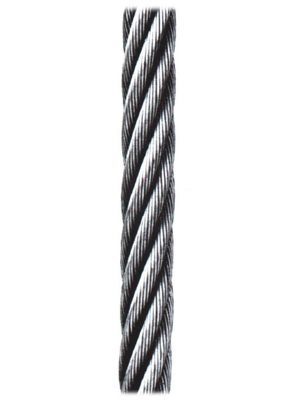 CABLE SIRGA GALV 100 MT CABLES Y ESLINGAS 6X7+1
