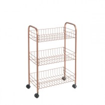 CARRO MULTIUSO 3 CESTAS COPPER METALTEX 41X23X63CM