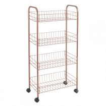 CARRO MULTIUSO 4 CESTAS COPPER METALTEX 41X23X84CM