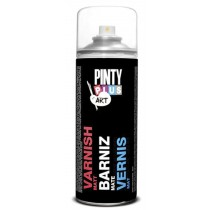 PINTURA AEROSOL BARNIZ SATINA. PINTY PLUS 200 ML