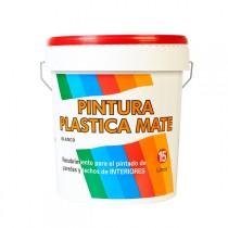 PINTURA PLASTICA BLANCA MATE  15 L